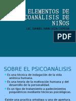ELEMENTOS DE PSICOANÁLISIS CON NIÑOS