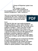 In the Matter of Charges of Plagiarism Against Assoc Justice Del Castillo