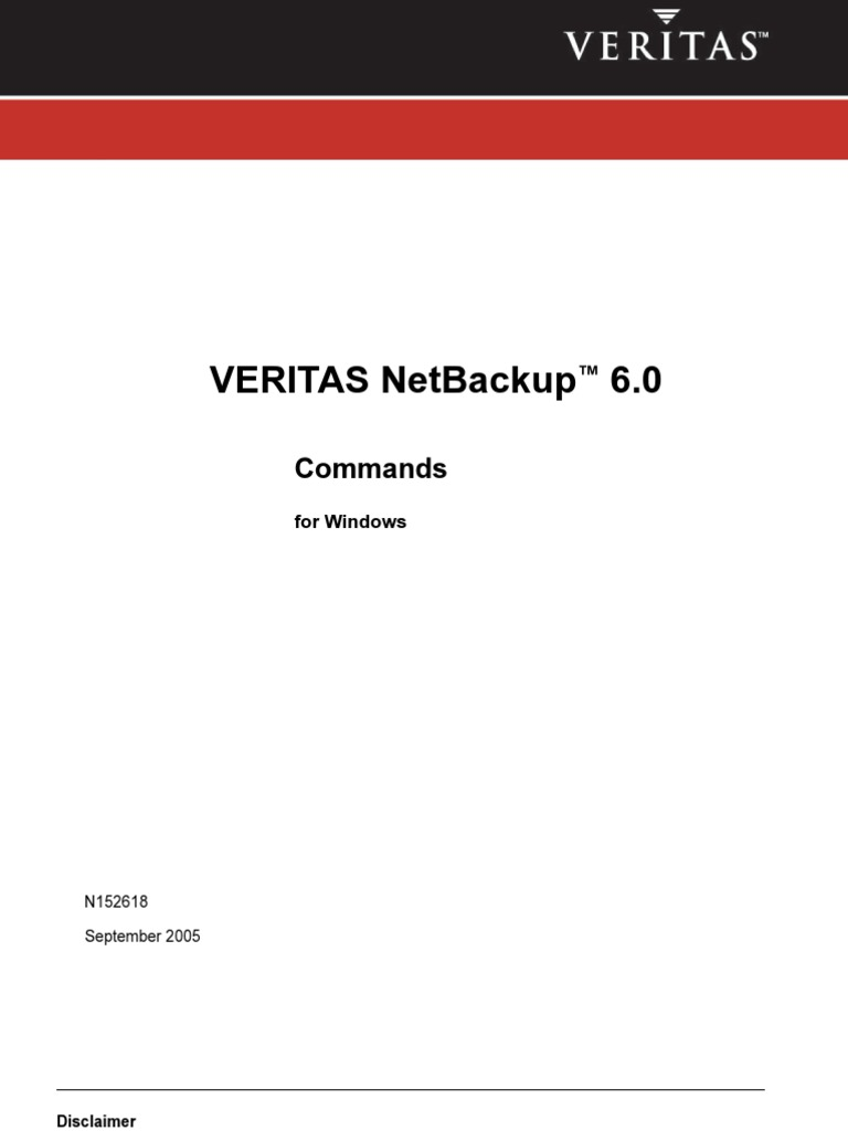 Netbackup Commands Window Command Line Interface Port Computer