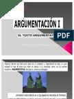 CLASE ARGUMENTACIÓN I