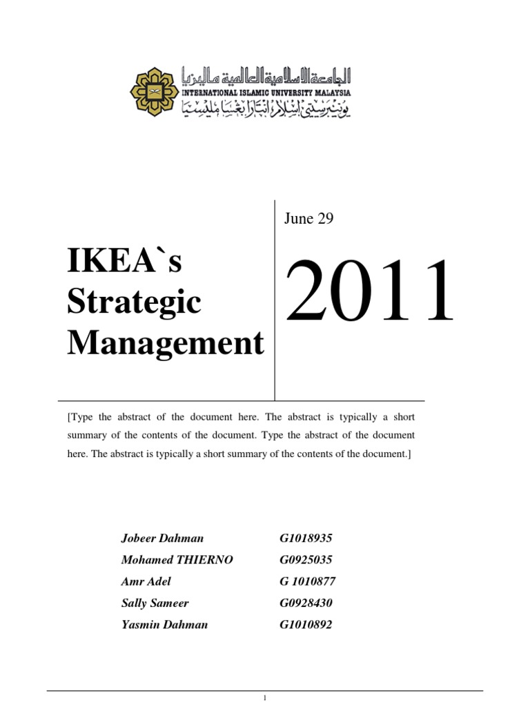 ikea global marketing Home essays ikea - global marketing report ikea - global marketing report evaluates as a key marketing strategy for ikea as a case study.