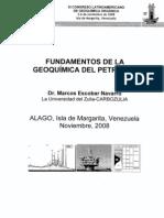 FUNDAMENTOS DE LA GEOQUÍMICA DEL PETRÓLEO - Dr. Marcos Escobar Navarro - La Universidad del Zulia-CARBOZULIA