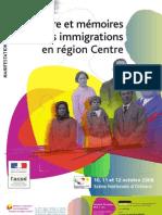 Colloque Histoire et mémoires de l'Immigration en région Centre