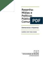 2011 05 21 Resenha Mídias e Políticas Públicas de Comunicação
