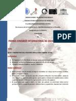 CONVOCATORIA INTERNACIONAL DE ENSAYO FILOSÓFICO 2011