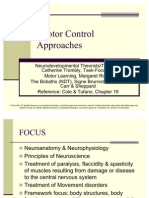 Motor Control Approaches