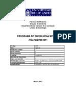 Programa Sociología 2011
