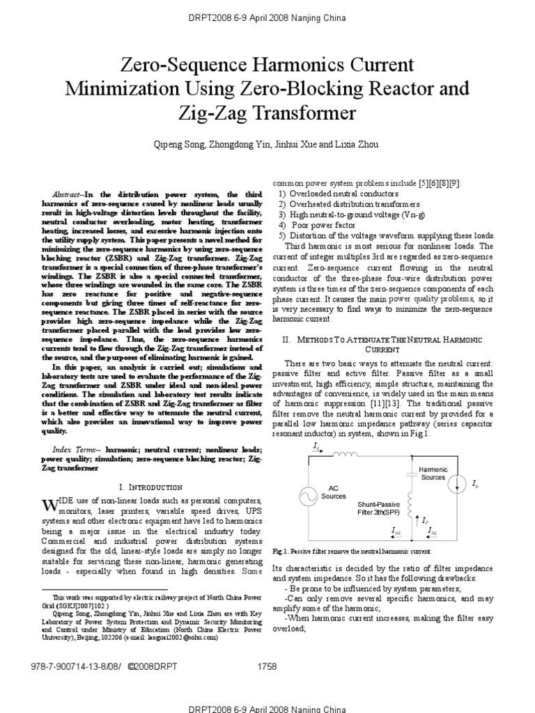 045236911 Transformer Electric Power System Zig Zag Wiring Diagram