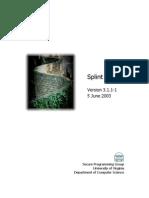 Splint Manual