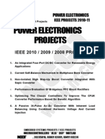 NCCT - IEEE Projects 2010 -- Power Electronics Project Titles List