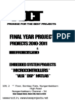 NCCT - IEEE Projects 2010 and Non IEEE -- Biomedical Projects List Titles 2010 - 2011