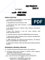 NCCT - Java 2010 IEEE Projects - Readily Available List
