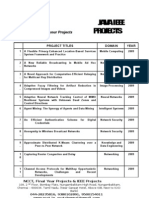 SWP - NCCT - IEEE Projects - Java - Readily Available List - 2009 08 07