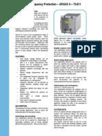 7SG11 Argus 8 Catalog Sheet