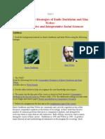 weber Durkheim