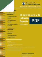 EL PATRON ORO Y LA INFLACION EN ESPAÑA 1972-2007
