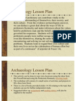 Archaeology Lesson Plan