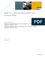 How to Use Write Back Pre-Process BADI