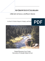 Water and Growth in Colorado