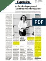 Los asesores fiscales impugnan el modelo de declaración de Sociedades - 25/07/2011 - Expansión - Sala & Serra Abogados