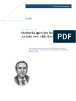 Starbucks' quest for healthy growth An interview with Howard Schultz