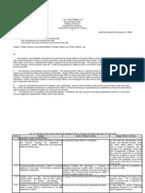 Range Officers Duty | Tax Refund | Appeal