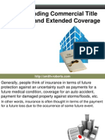 Understanding Commercial Title Insurance and Extended Coverage