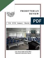 Presbyterian Review - January_March, 2011