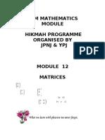 MODULE 12 Matrices