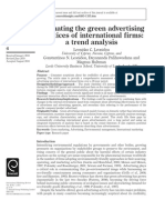 Evaluating the Green Advertising Practices of International Firms- A Trend Analysis