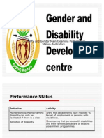 Gender and Disability Mainstreaming Awareness Action Plan