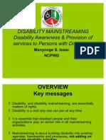 Mainstreaming Disability Manyonge