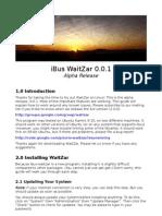 Iwaitzar Install Guide