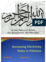 Electricity Rates in Pakistan by MIRZA MAJID ALI