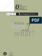 The Insolvency Service Guide to Bankruptcy