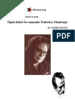 Berneri, C - Open Letter to Comrade Federica Montseny