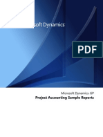 Project Accounting Reports
