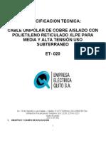 Cb-et-020 Xlpe m.t. Reticulado 2011-07-25