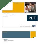 SAP Portfolio and Project Management 5 0 - Introduction