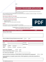 Internship Programme Application Form