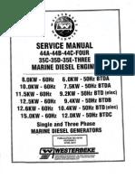 WESTERBEKE Manual Service 35e 44c 8-15 Btdc 45100 Rev 2