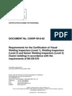 CSWIP-WI-6-92 10th Edition January 2011