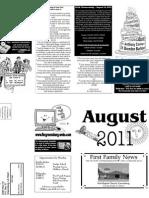 FBC Newsletter August 2011