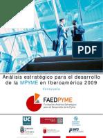Informe Faedpyme VENEZUELA 2009