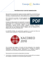 XACOBEO 2010. Manual Lineas Estrategicas