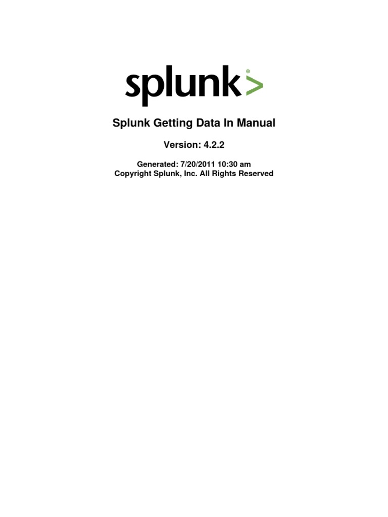 Splunk 4 2 2 Data | Windows Registry | Search Engine Indexing