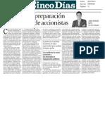 Estrategias y preparación de las Juntas de Accionistas - 26/07/2011 - Cinco Días - Sala & Serra Abogados