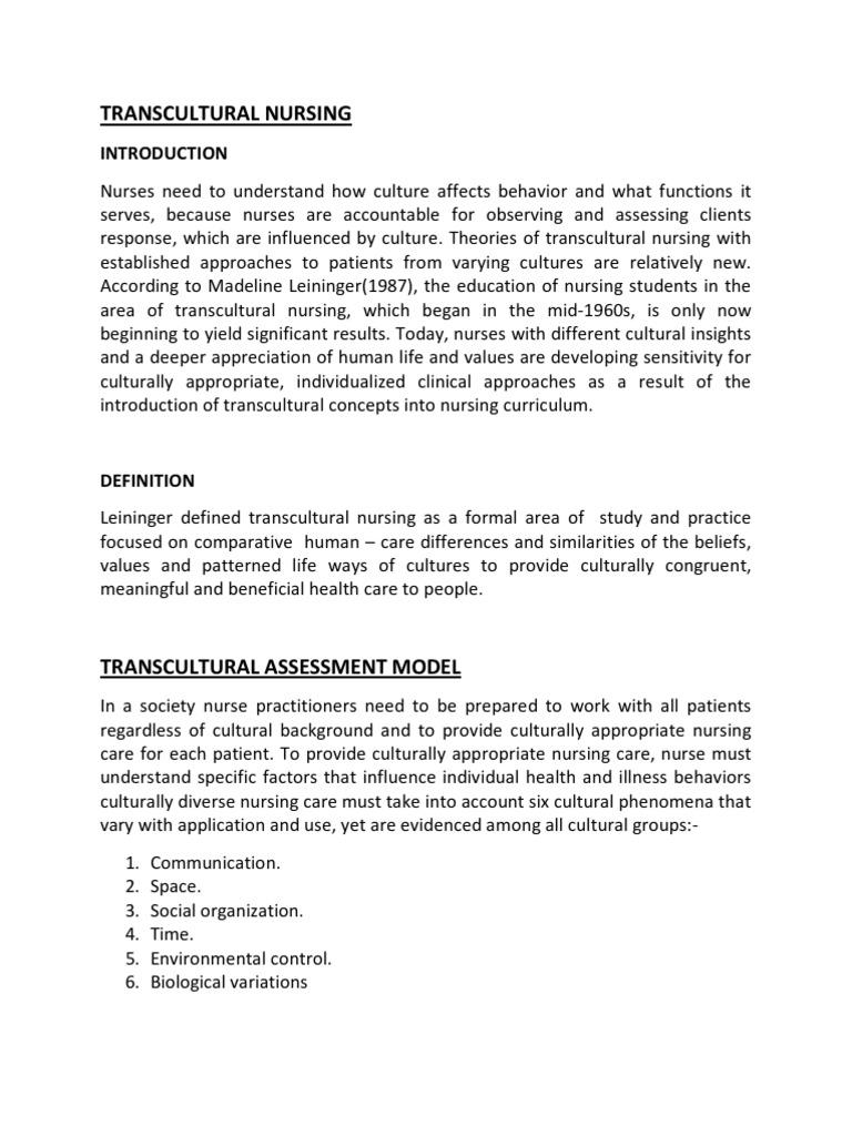 Trans Cultural Nursing | Nonverbal Communication | Communication