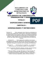 REGLAMENTO DE CONSTRUCCIÓN MUNICIPALIDAD DE RETALHULEU