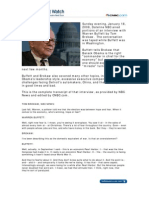 Warren Buffett-Tom Brokaw NBC Dateline Interview, January 18, 2008